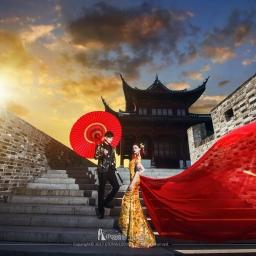 【中式禮服】四款妳沒看過的中式禮服婚紗照,中式婚紗照也要走在時尚尖端!