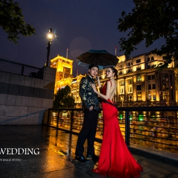 【自助婚紗】紅色禮服婚紗照取景&道具搭配全攻略
