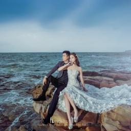 【自助婚紗】礁石上的浪漫—岩岸婚紗照精選