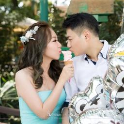 【自助婚紗】遊樂園婚紗照取景地點推薦,讓我們一起用笑臉填滿婚紗照吧!