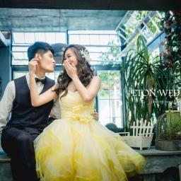 【自助婚紗】如何穿出黃色禮服的活潑浪漫-婚紗姿勢介紹