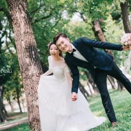 【自助婚紗】明星都這樣拍婚紗!3分鐘教妳拍出時下最流行的「輕婚紗」!